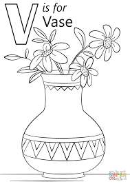 Small Picture Letter V is for Vase coloring page Free Printable Coloring Pages