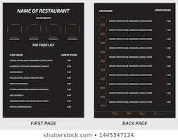 Restaurant Menu Template Restaurant Menu Template Images Stock Photos Vectors