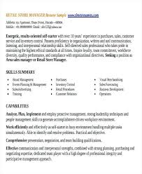 Sample Resume Of Store Manager Retail Store Manager Resume Template Sales Ericremboldt Com