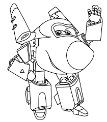 Super Wings Robocop Transformer Coloring Pages