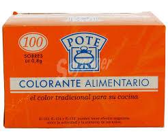 Pote Colorante Alimentario Sobre De 100 Ud