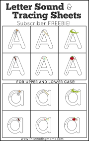 Print out the phonics worksheets and activities on this page so your students can learn about words with the. Letter Sounds And Letter Tracing Sheets Subscriber Freebie