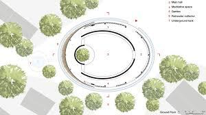 Architecture design concept Community Hut Design Concept By Kpra Design Indaba Hut Architecture Concept For Spiritual Community Design Indaba