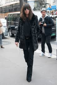 faux fur coat winter emmanuelle alt