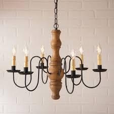 gettysburg wood chandelier in hartford mustard over red