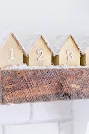 diy wooden houses advent calendar