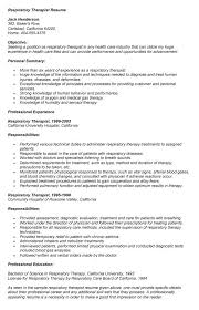 Respiratory Therapist Job Description Impressive Sample Resume For Respiratory Therapist Colbroco