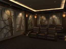 Small Picture Home Theater Design featuring Angled Curves decorative acoustic
