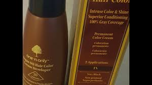 One N Only Argan Oil Permanent Hair Color Grey Coverage