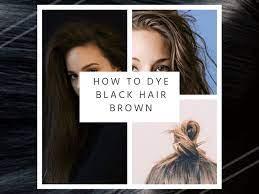how to dye black hair brown bellatory