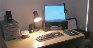 office desktop computer. Unique Office A Home Office Set Up With A Personal Computer Inside Office Desktop Computer U