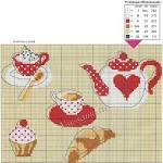 Вышивка крестом схемы чайников