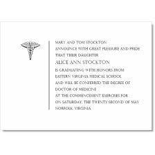 Simple Medical Graduation Invitations By Ib Designs