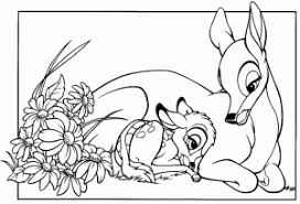 Color bambi from the disney movie bambienter the magical world of the woods as you color the prince of the forest: Bambi Free Printable Coloring Pages For Kids