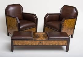 Art deco furniture Simple Chairsandottoman Departures Art Deco Club Chairs And Ottoman Ct Fine Furniture