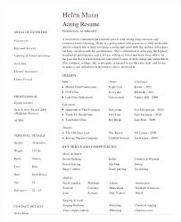 Acting Resume Templates Inspiration Example Professional Actor Resume Template In Cv Giancarlosopo