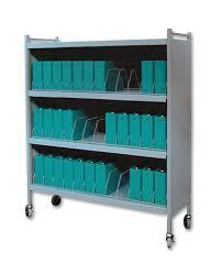 Patient Chart Racks Rhino Tuff Mobile Chart Rack 36 Space Binder Storage Cart