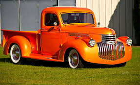 vintage chevrolet truck logo. retro photograph neat vintage chevrolet truck in bright orange by eti reid logo c