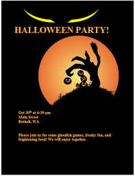Halloween Party Invitation Flyer Template | Printable Templates