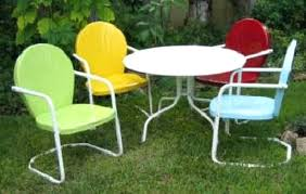 children lawn chair image of retro metal chairs and bench with cushion furniture fair goldsboro nc