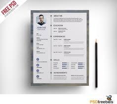 Creative Professional Resume Template Free Psd Templates Stylish