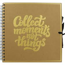 Collect Moments Not Things Kraft Scrapbook Album 25x25cm Scrapbook Supplies At The Works