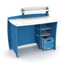 desk with shelf and file cart blue and white hayneedle