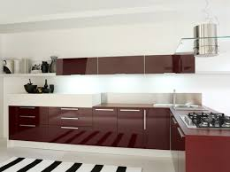 Photo 1 of 4 Kitchen, Glossy Maroon And White Combination Contemporary  Kitchen Cabinets For Sale: Choose Contemporary Kitchen