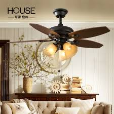 get quotations house american retro past countryside living room dining led konoha american fan silent ceiling fan light