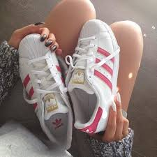 adidas shoes pink and gold. adidas, fashion, gold, photography, pink, shoes, superstars, white adidas shoes pink and gold -
