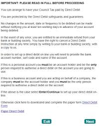 Direct Debit Form COUNCIL TAX ONLINE GUIDES