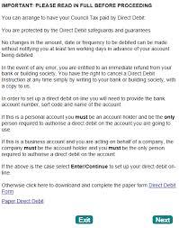 Direct Debit Form COUNCIL TAX ONLINE GUIDES