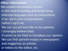 opinion essay an opinion essay presents our personal opinion on a  3 other information