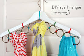 this DIY #ScarfHanger will keep your scarves #organized & accessible    instructions on CherylStyle