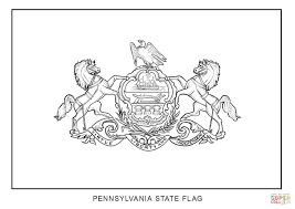 Pennsylvania State Flag Coloring Pages