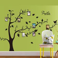 wall decal family art bedroom decor room photo frame decoration family tree wall decal sticker poster on a wall sticker tree wallpaper kids photoframe art pcs lots wholesale high quality