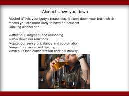 the harmful effects of drinking and driving alcohol