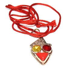 rudra divine sagittarius zodiac semi precious gemstone fortune lucky pendant multicolor semi precious gemstone prosperity pendant for dhanu rashi