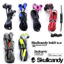 skullcandy headband fit wired headphones oem skullcandy ink d 2 0 earbuds headphone wired w mic remote black red blue