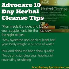Advocare Cleanse Chart Breathe Deeply And Smile Advocare Herbal Cleanse Review