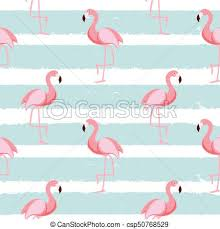 Flamingo Pattern Beauteous Cute Seamless Flamingo Pattern Vector Illustration Eps48
