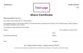 Shareholder Certificate Template Free Share Certificate Template Create Perfect Share Certificates