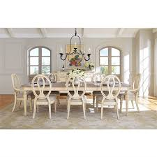 European Cottage Dining Table In Vintage White 404040 Interesting Stanley Furniture Dining Room Set