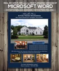 Home Flyers Template Real Estate Flyer Template Microsoft Word Docx Version