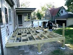 building a raised deck elevated concrete how to build