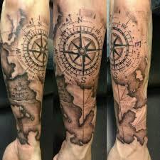 Resultado De Imagen De Tatuajes De Mapas Y Brujulas идеи для