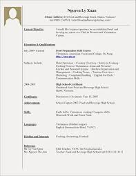 First Time Resume Examples With No Experience Free Resume Examples