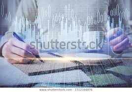 Hand Reflection Chart Forex Chart Hologram On Hand Taking People Business