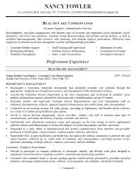 resume samples healthcare