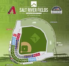 Salt River Fields Interactive Seating Chart Arizona Diamondbacks Baseball Map Mlb Stadium Map Dbacks Az